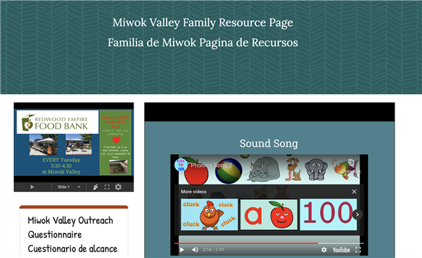 Miwok Family Resource Page