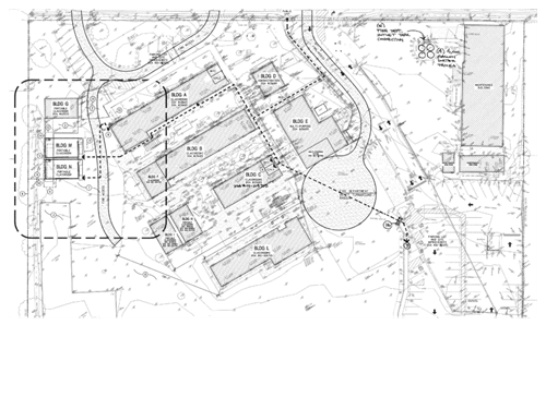 This map shows the layout of the new portables to be installed at Old Adobe Elementary.