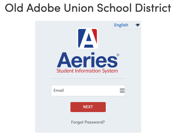 Click here to access the Aeries parent portal.